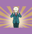nervous skepticism man smiley emoji face vector image vector image