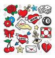 old school fashion patch badges vector image