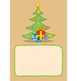 Gifts and christmas tree vector image