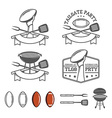 Tailgate party design elements set vector image vector image