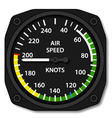 aviation aircraft airspeed indicator vector image