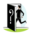 Suspense outside the door vector image