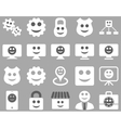 Tools gears smiles dilspays icons vector image