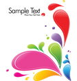 A splash of various colors vector image vector image