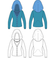 Template outline of hooded jacket vector image