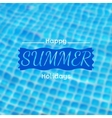 blurred background with swimming pool vector image