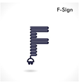 Creative F letter icon abstract logo design vector image