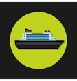cruise ship transport icon vector image