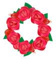 wreath flowers vector image