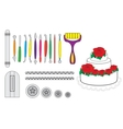 Modelling Tools for Icing  Decorating Sugarpaste vector image