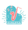concept of jazz music vector image