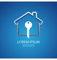 House lock icon vector image