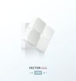 3D Cube twist white color vector image