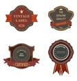 Set of vintage luxury retro labels templates vector image