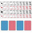 set of playing cards from ace to ten eps10 vector image