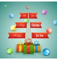 Paper Christmas tree vector image vector image
