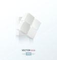 3D Cube twist white color vector image vector image