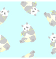 seamless texture of a panda vector image vector image