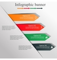 Infographic design banner vector image