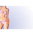 female body swimsuit vector image