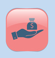 hands holding bag of money vector image