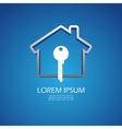 House lock icon vector image