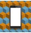 modern smartphone on geometric background vector image