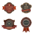 Set of vintage luxury retro labels templates vector image