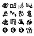 finance icons set vector image vector image