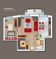 top view floor plan of the house room