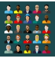 men appearance icons people flat icons collection vector image