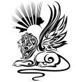 black sphinx vector image vector image
