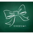 Chalkboard drawing of a bow vector image