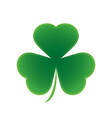 happy saint patricks day shamrock leaf isolated vector image