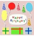 Happy birthday stickers set vector image