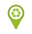 recycle symbol isolated icon design vector image
