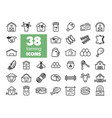 farm animal icons set vector image