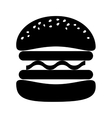 hamburger fast food vector image