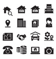 real estate icons symbol set vector image