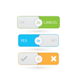 Switch Buttons vector image