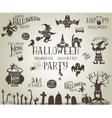 Halloween vintage banners vector image vector image