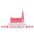 Merry Christmas Sweden vector image