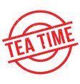 tea time rubber stamp vector image