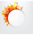 Grunge Background With Orange Speech Bubble vector image