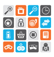 Silhouette Web Site and Internet icons vector image vector image