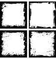 Four grunge frames vector image vector image