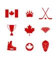 Canada Icon set vector image vector image