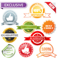 vector labels set vector image vector image