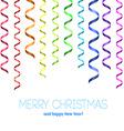 Rainbow serpentine pattern for congratulation vector image
