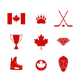 Canada Icon set vector image